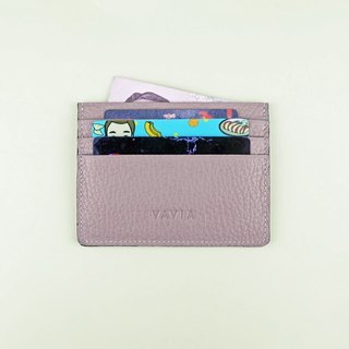 """Violet ice"" Cow Leather Card Holder"