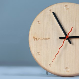 Nordic wind wall clock round (Maple)