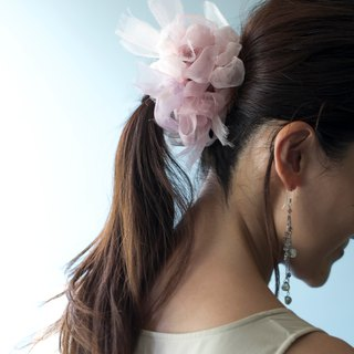 Milkvetch; Blooming Sakiami Colourful Hair Scrunchy / Hair Accessory / Hair Tie