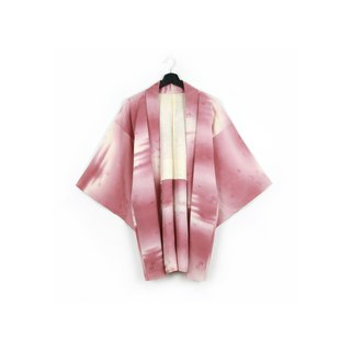 Back to Green-Japan brought back feather weaving bean purple powder sunset/vintage kimono