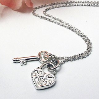 Love Lock & Key sterling silver necklace