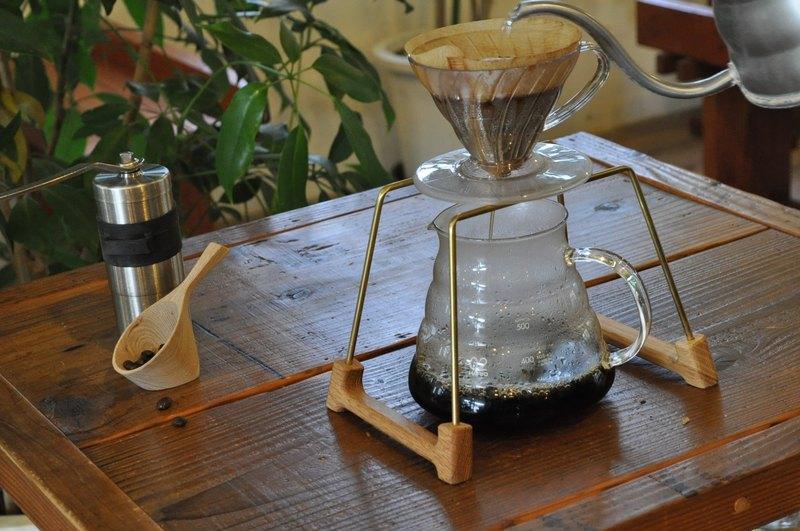 最幸福的時光 咖啡濾杯架 橡木