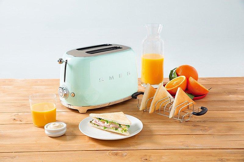 【SMEG】義大利復古美學 2片式烤麵包機-粉綠色