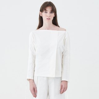 wide-neck blouse