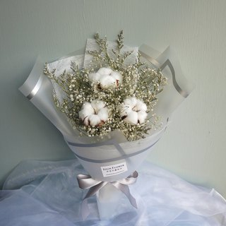 暮 Summer Forest - Cotton Gypsophila Dry Bouquet Valentine's Day Mother's Day Graduation