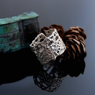 Lace walking Silver Ring - No. 8 (color. Living Wai)
