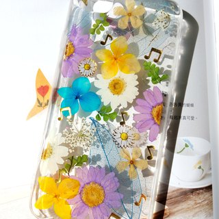 Pressed flowers phone case, iPhone 7 , iPhone 8, Spring color