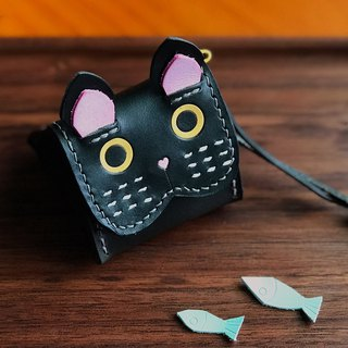 Imperial rice ball small black cat animal three-dimensional purse