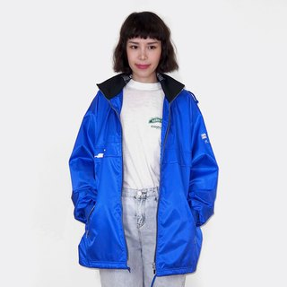 Blue long version of windproof vintage jacket BM3018