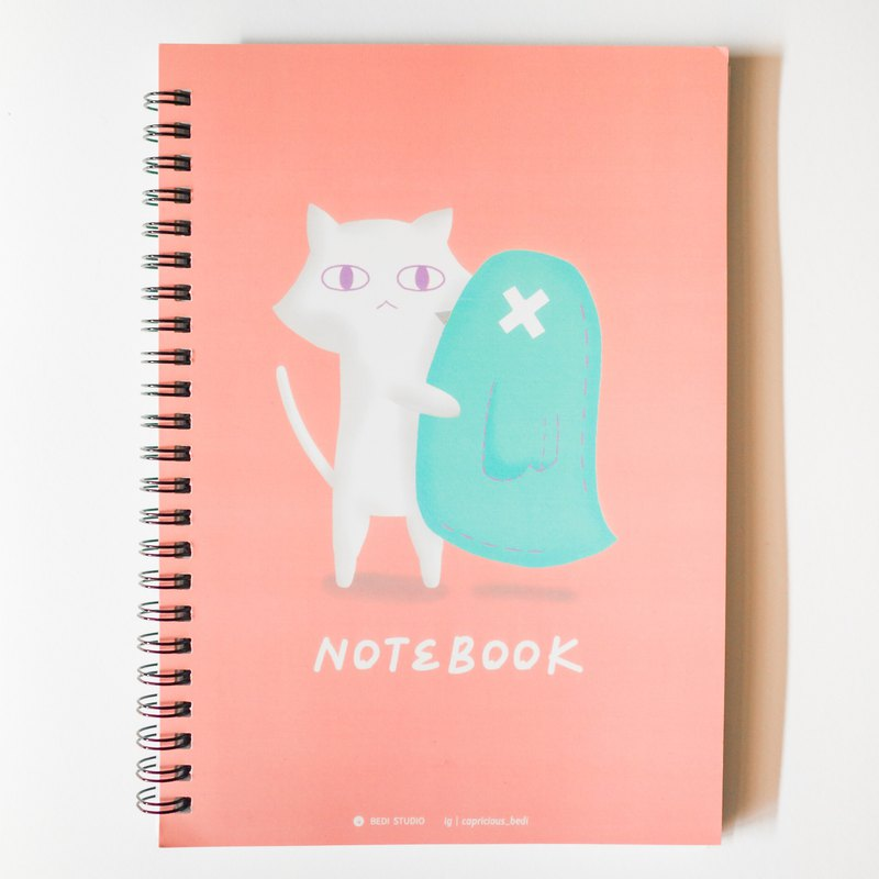 A pigeon aunt notebook | powder