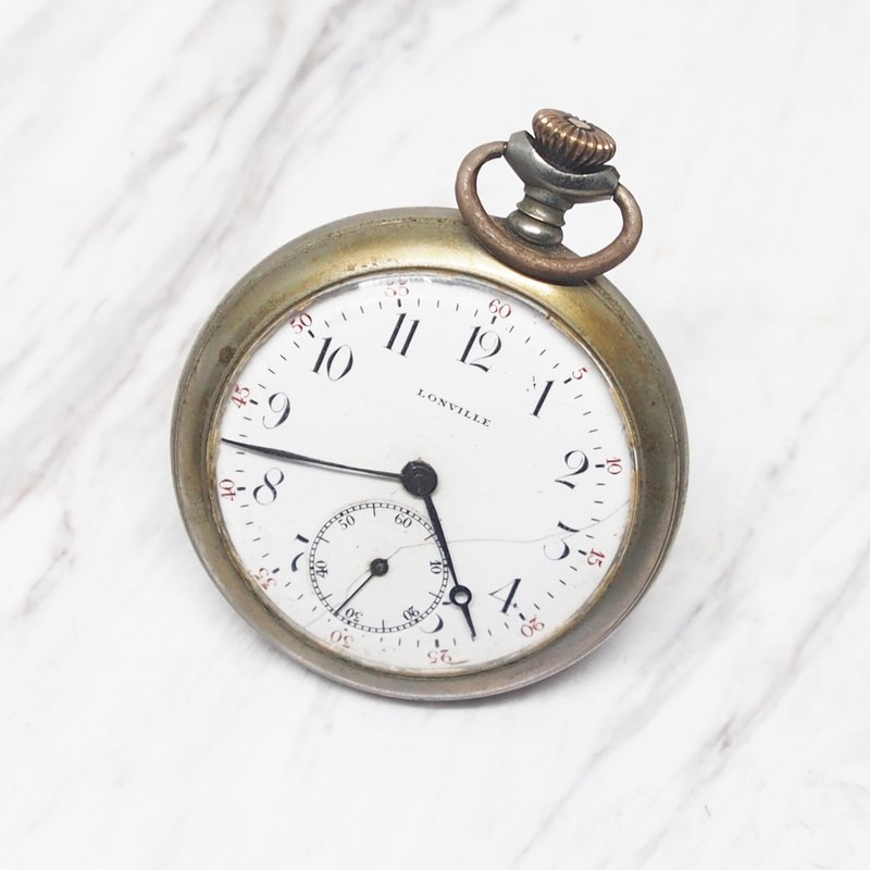 Swiss brand LONVILLE antique bronze pocket watch