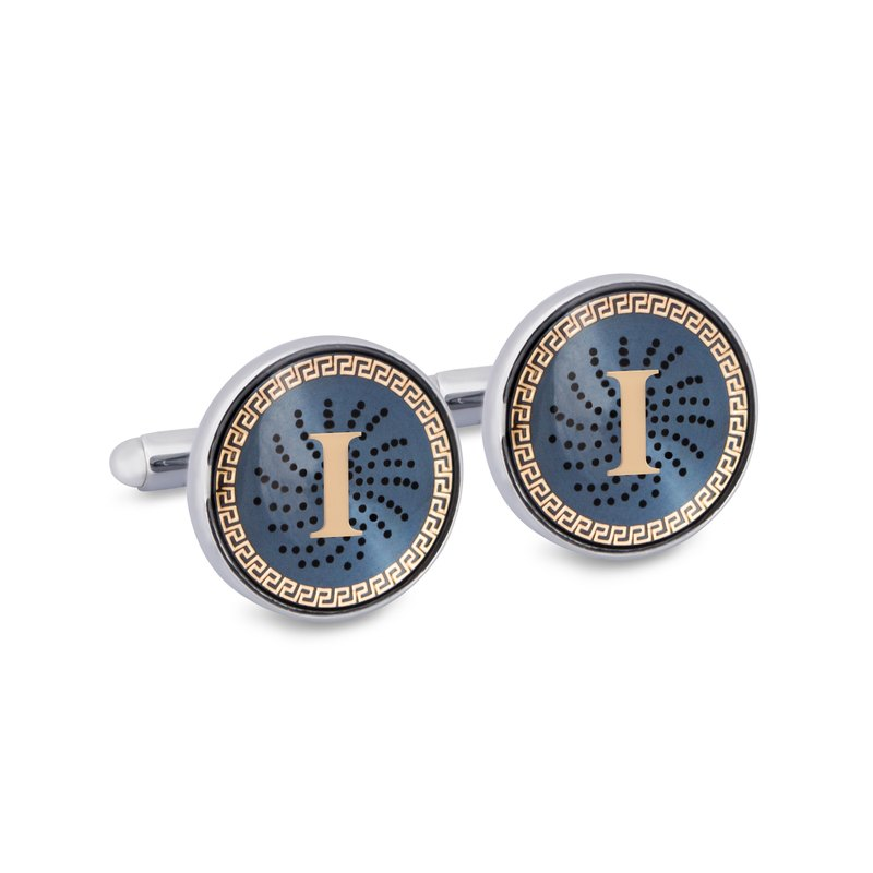 "Monogram ""I"" Cufflinks with Lacquer Finish"