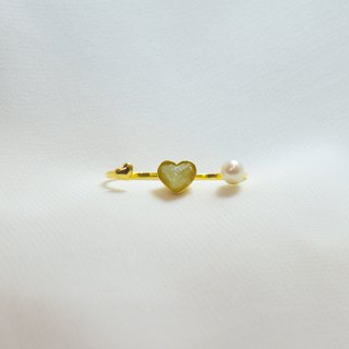 Triple miniheart ring