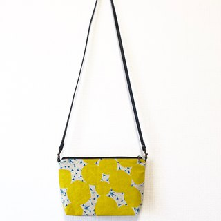 Long Strap Backpack - Japanese Imported Floral Cloth - Yellow Round Geometry