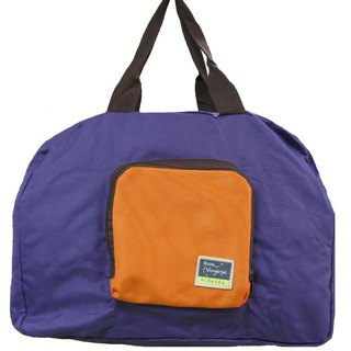 Travelholic Foldable tote Design for all shoppers - Purple - Orange