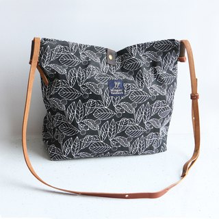 Mingen Handiwork autumn leaf print retro style wild canvas small bag XKB18001