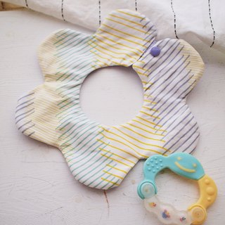 Hairmo. Japanese style handmade baby bib / saliva towel - flower version