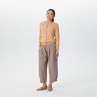 Organic Cotton Knit Cardigan - Warm Orange