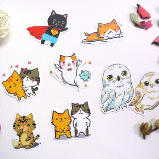 Cat cat waterproof big sticker