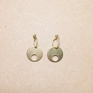 Vintage Mini Brass Disc Earrings