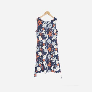 Dislocation vintage / flower sleeveless dress no.844 vintage