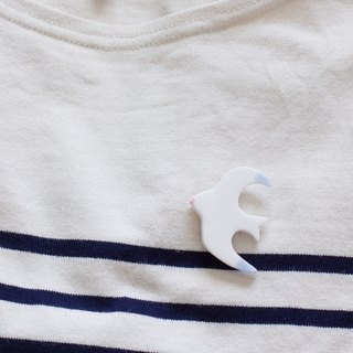 White seagull brooch accessories pin シ ー グ ル ブ ブ ロ ー チ