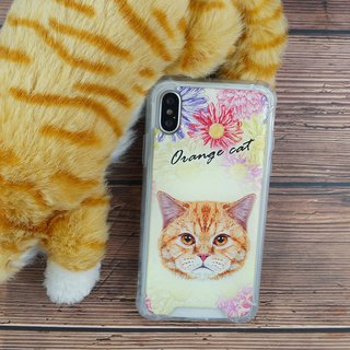 [orange cat] anti-gravity anti-fall mobile phone case