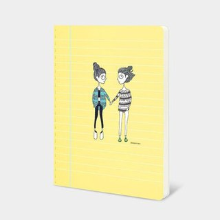 Dorothy 32K color car suture notebook - Hand in Hand (9AAAU0023)