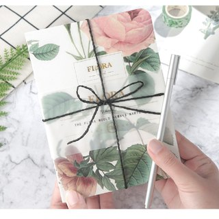Naked book retro flower plant small fresh literary hand account diary notebook
