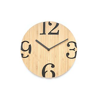 LOO Big Numbers Wall Clock Black