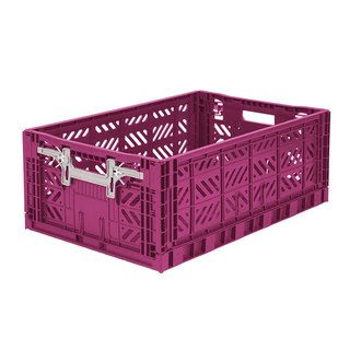 Turkey Aykasa Folding Storage Basket (L) - Berry Violet
