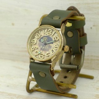 Handmade watch HandCraftWatch Sun & Moon Men's Brass Sun & Moon [358] KH