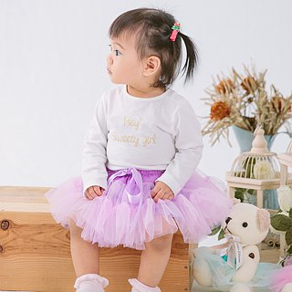 Cotton Peach Powder - Handmade Lightweight Skirt (with Tiara)