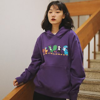 SYAO / 80S cartoon hoodie cotton men and women