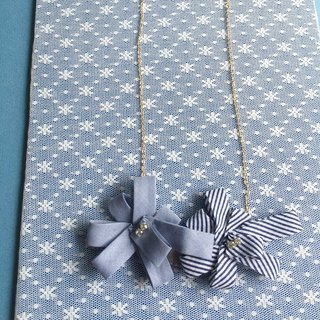 [Bluesy Mod] --- Folded Ribbon necklace folded cloth belt necklace. (BRB - Ribbon 1)