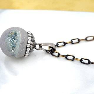 Galaxy Cosmic Planet Agate Beads Necklace Necklace Artificial Electroplating Symphony Color Natural Crystal