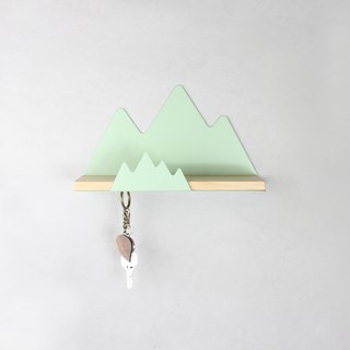 Metal House Mountain  <Shelf Storage Key Ring >