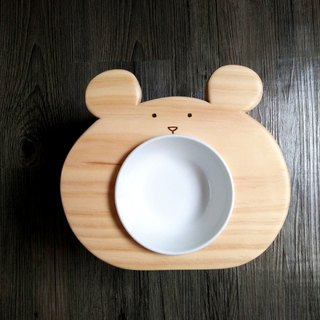 "Hairy Kids Dining Table Series - ""Bear Bear"" Log Pet Table Dish"