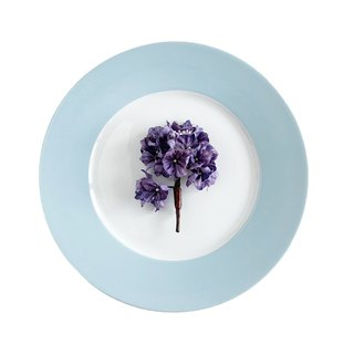 Corsage: branch of a hydrangea purple