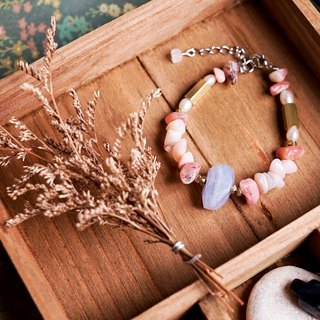 [Strawberry smoothie] Handmade natural stone bracelet