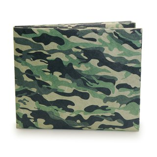 MOBOH DuPont Paper Wallet Travel Camouflage Waterproof Portable Lightweight Solid War Wolf Overseas Men and women Tear is not bad