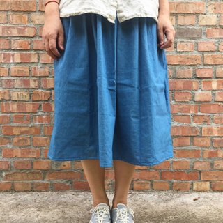Indigo vegetation blue dye pocket round skirt