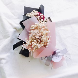 [good flower] scent dry powder rose star bouquet bouquet Valentine's Day bouquet (single bundle) - powder rose
