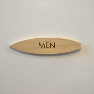 Surfboard plate for men only