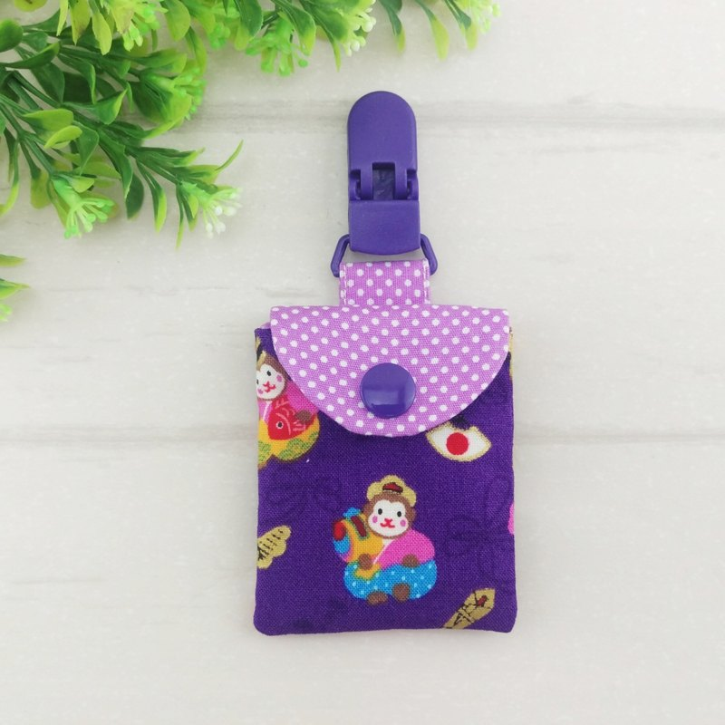 Purple love monkey treasure. Ping Fu bag (can increase 40 embroidered name)
