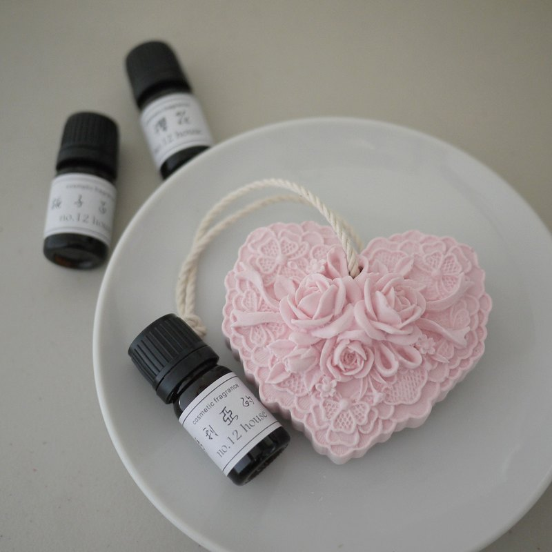 新款~12號平房-浪漫心形玫瑰款-擴香石組合~