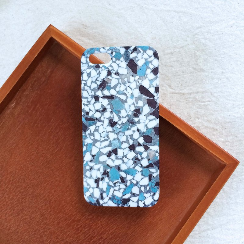 Wash stone blue mobile phone case hard shell iPhone Android