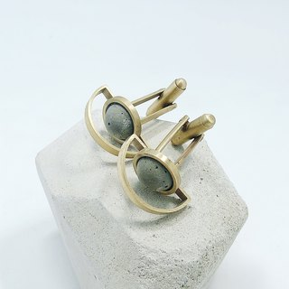 Brass Concrete Cufflink - A Trip to the Moon- C3CraftStudio x Agaric Garden