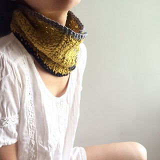 Creative organic cotton cowl -hand crochet scarf (Mustard Yellow)