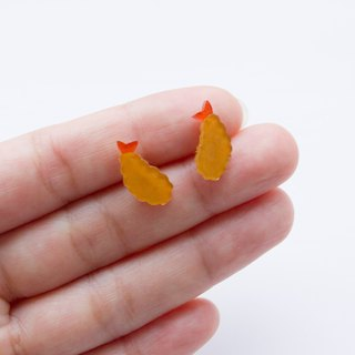 Fried shrimp tempura earrings earrings ear clip